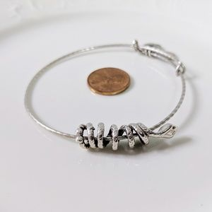 Alex and Ani Silver Sliding Coiled Snake Bracelet